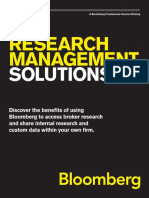 Research Management Solutions Buyside