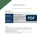 Formalización de Negocios y Empresas