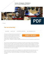 The Art of the RFQ