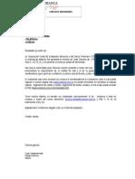 Carta de Bienvenida 2012