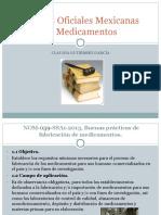 Normas Oficiales Mexicanas de Medicamentos