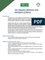 Técnicas Manuales Con Enfoque Clínico