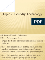 GTU B. E. Mech Sem v MP II Topic 2 Foundry Technology Ne