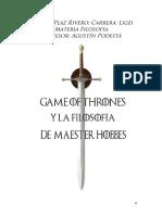 Filosofia y Game of Thrones Hobbes en Kingslanding
