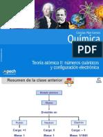 Clase 3 Teoría Atómica II Números Cuánticos y Configuración Electrónica 2016