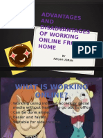 Advantages and Disadvantages of Working Online From Home