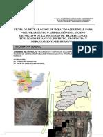 Ficha de Declaración de Impacto Ambiental Para Campo Deportivo
