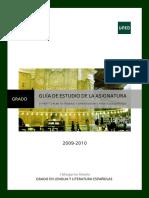 GUÍA II Textos Literarios Modernos 2009-2010