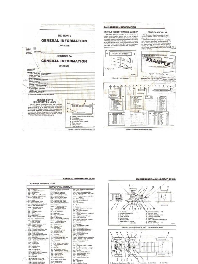 1988 g30 Chevy Van Repair Manual