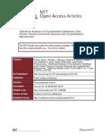 Statistical Analysis of Crystallization Database
