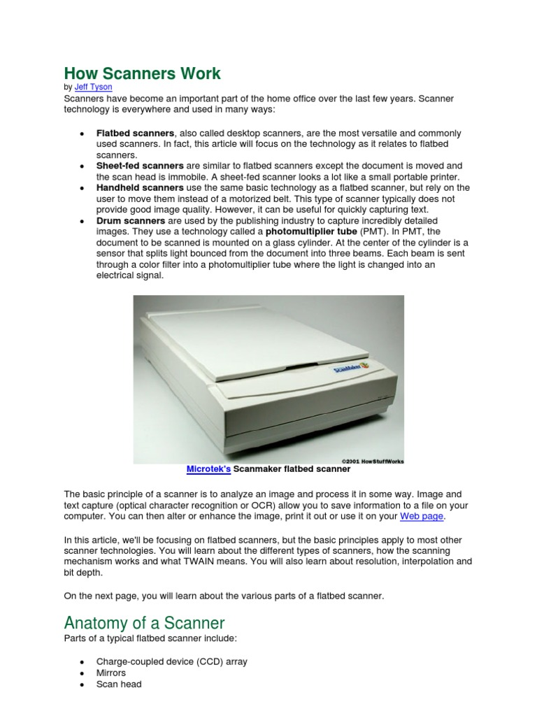 How Scanners Work | Image Scanner | Image Resolution