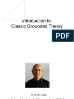 Introduction to Grounded Theory Research Seminar