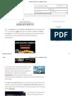 Definición de Aeropuerto - Qué Es, Significado y Concepto