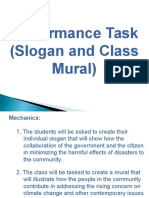 performance task  slogan and class mural