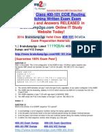 [2016 Jul. NEW]Braindump2go 400-101 Dumps PDF 1119Q&as 31-40
