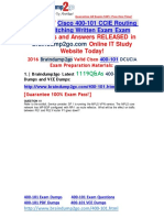 [2016 Jul. NEW]exam 400-101 Dumps VCE 1119Q&as 41-50