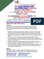 [2016 Jul. New]Braindump2go 400-051 VCE Dumps 454q Offer 21-30