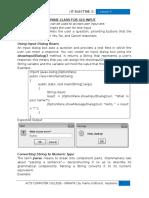 Using JOptionPane.showInputDialog