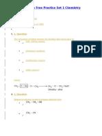 NEET Model Papers Free Practice Set 1 Chemistry