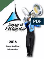 2016 Spirit of Atlanta BRASS Audition Packet (1)