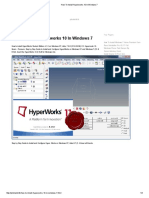 How to Install Hyperworks 10 in Windows 7