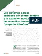 """Los sistemas aéreos pilotados por control remoto y la extinción nocturna de incendios forestales """"Proyecto Nitrofirex"""""""