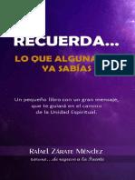 Recuerda Lo Que Alguna Vez Ya Sabías Spanish Edition_nodrm