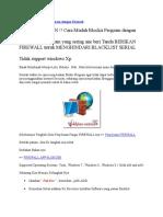 Cara Mudah Blockir Program Dengan Firewall