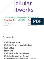 Cellular Networks Presentation - Sumit Kumar Nager
