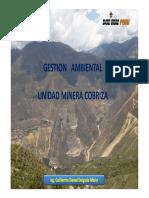 Gestion Ambiental UP Cobriza2016