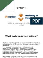 Unit 6 Comparative Literature Review Tips