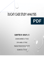 Ducati Harvard Case Study Analysis