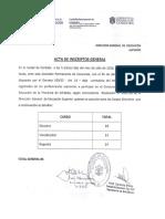 Acta de Inscriptos a Cargos Directivos de La D.G.E.S.