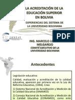 Marcelo Loayza - Acreditacion Sisitema Boliviana