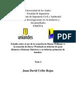 Estudio Sobre El Uso de La Ecuación de Hazen-Williams vs La Ecuación de Darcy-Weisbach en Tuberías de Gran Diámetro (Sistemas Matrices) y en Tuberías Primarias de Bombeo.