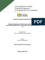 Resaltos Hidráulicos en Tuberías Lisas de Sección Circular Fluyendo Parcialmente Llenas, Con Números de Froude Inferiores a 4.0