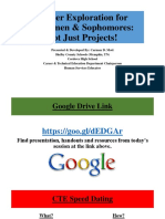 career exploration for freshmen   sophomores- not just  projects final