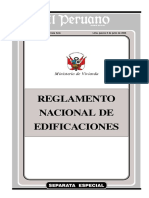 Reglamento Nacional de Edificaciones