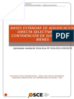 Bases Estandarizadas Combustible Huayllay 2015