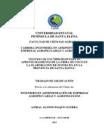 ESTUDIO DE FACTIBILIDAD PARA EL APROVECHAMIENTO DE LA FIBRA DE COCO EN LA ELABORACIÓN DE SUSTRATO