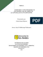 Criterio de Esfuerzo Cortante Mínimo vs Velocidad Mínima Para El Diseño de Alcantarillados Auto Limpiantes.