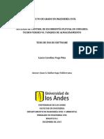 Sistemas de Control de Escorrentía Pluvial en Ciudades Techos Verdes vs. Tanques de Almacenamiento