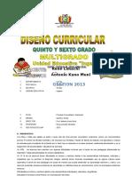 5º, 6º Primaria Multigrado Avelino Siñani 2013