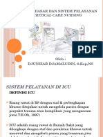 Konsep Dasar Dan Sistem Pelayanan Critical Care Nursing