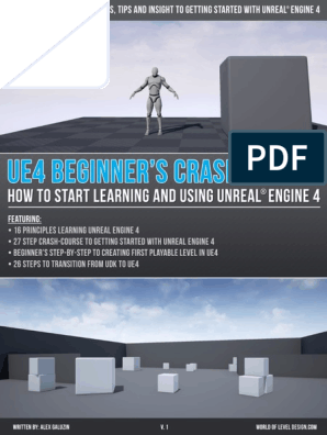Unreal Engine 4-Beginners Crash Course v1 pdf | 3 D Modeling | Prototype