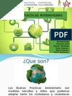 Buenas Practicas Ambientales. 01 de SEPTIEMBRE