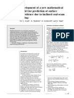 Development of a New Mathematical Model for Prediction of Surface Subsidence