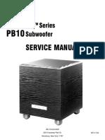 JBL PB10 Service Manual