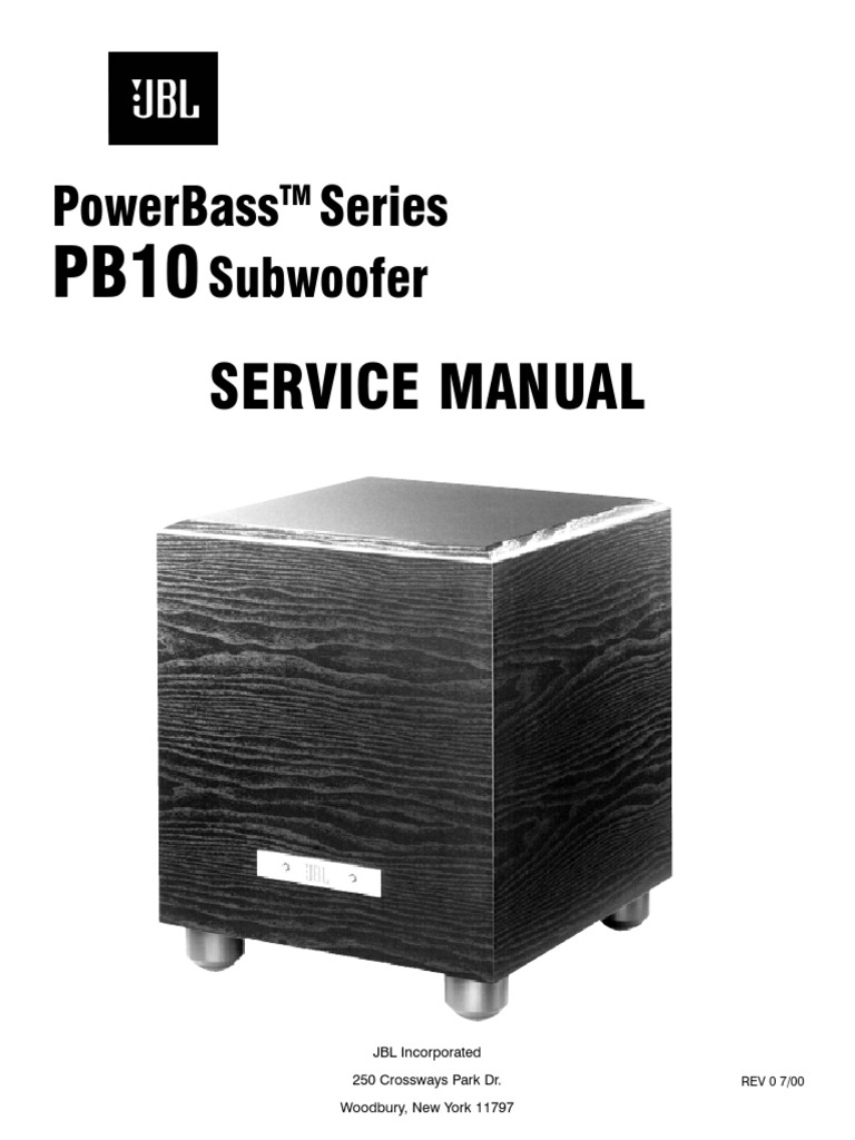 jbl pb10 service manual loudspeaker amplifier rh es scribd com JBL Power Bass PB10 JBL Power Bass PB10