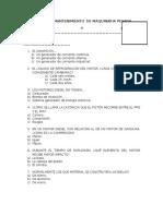 Examen de Mantenimiento de Maquinaria Pesada